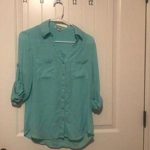 Express Portofino Shirt - Aqua